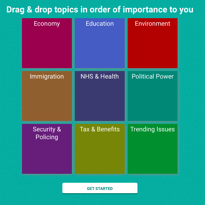 Selecting topics, Vote Match style